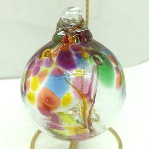Nice Hand Blown Glass Tree Ornament